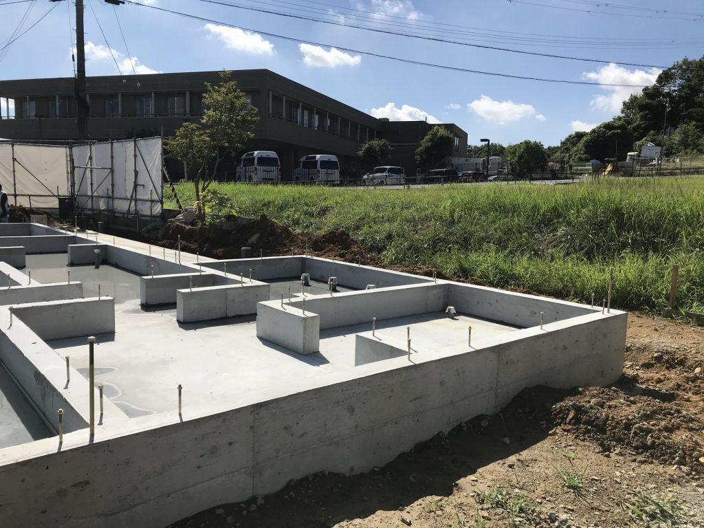 三木市 新築 建築設計 住宅 基礎完成 建築家